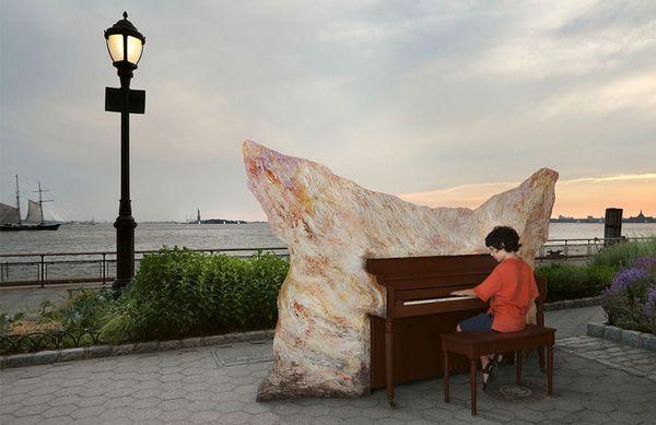 Độc đáo những chiếc đàn piano sắc màu giữa thành thị 7