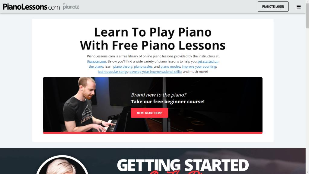25 website học đàn piano tốt nhất thế giới ảnh 17