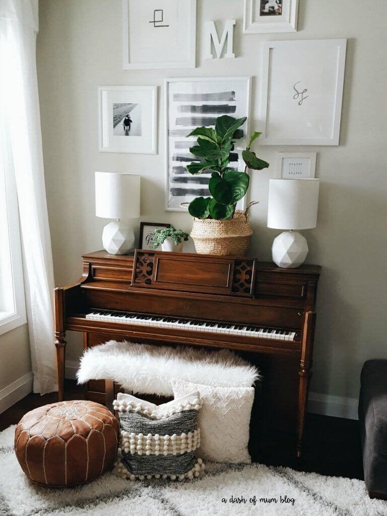 Cách bày trí đàn piano trong không gian nhà ở ảnh 7